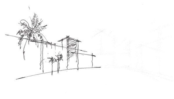 速写现代建筑的绘制步骤二