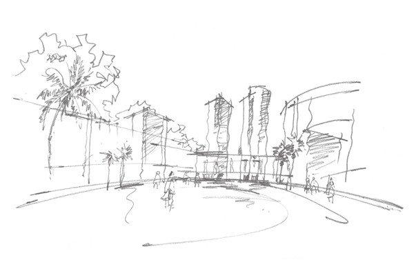 速写现代建筑的绘画技法(5)
