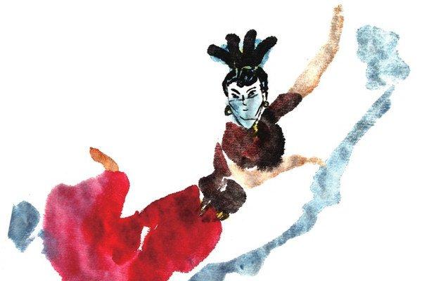 国画人物舞蹈的绘画技法