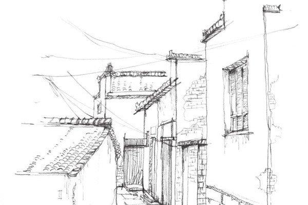 水彩画绘画教程:江南水乡水彩画图文作画步骤(6)