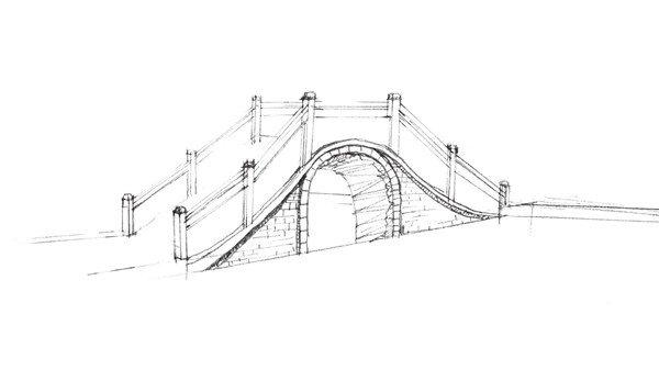 速写石拱桥的绘画技法 3
