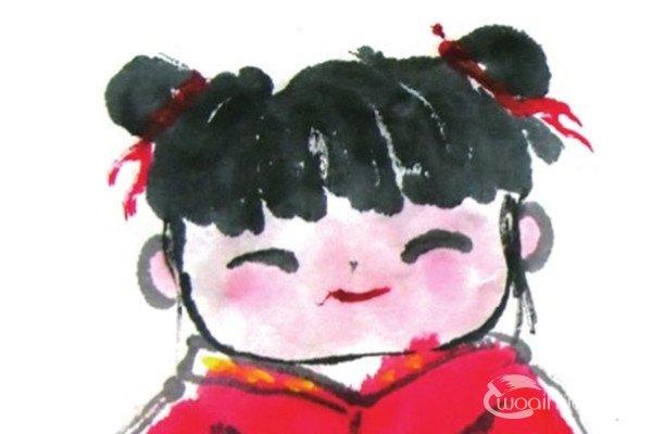 国画女娃的绘画技法