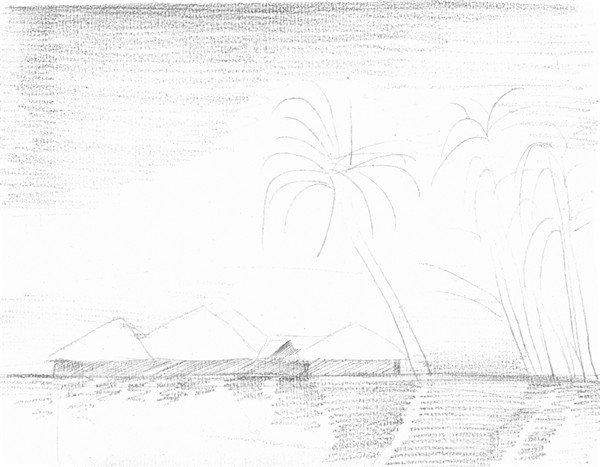 素描海边风景的绘画技法(2)_素描教程_学画画_我爱