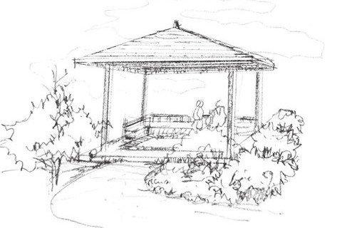 风景钢笔画图片 手绘钢笔画写生及速写作品 7