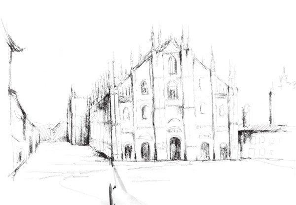 速写欧式建筑的绘画技法(7)