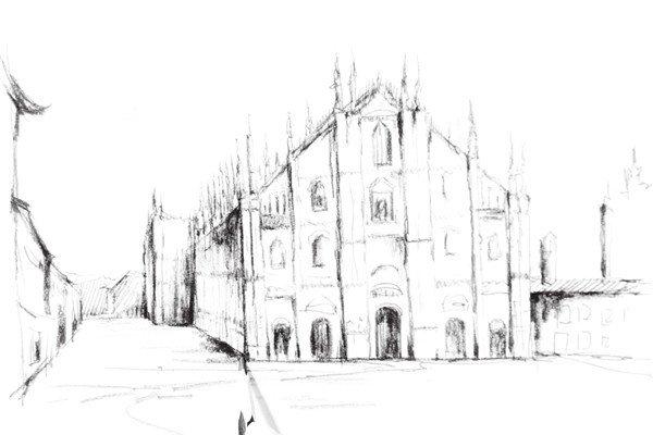 古堡建筑简笔画,简笔画城堡图片大全(6)