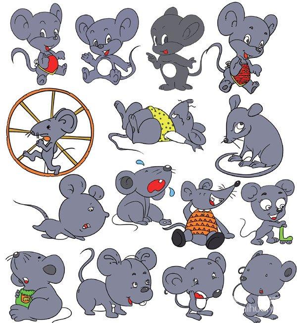 > 动物类简笔画(7)                      狐狸 松鼠 老鼠 哺乳动物的