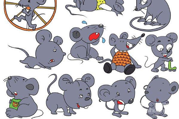 个阿拉伯数字和动物组合的卡通画图片