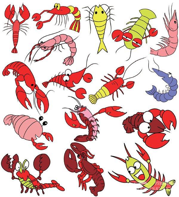 水生动物类简笔画_儿童画教程_学画画_我爱画画网