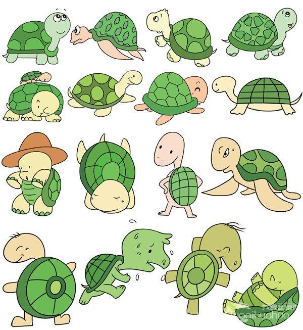 水生动物类简笔画(2)
