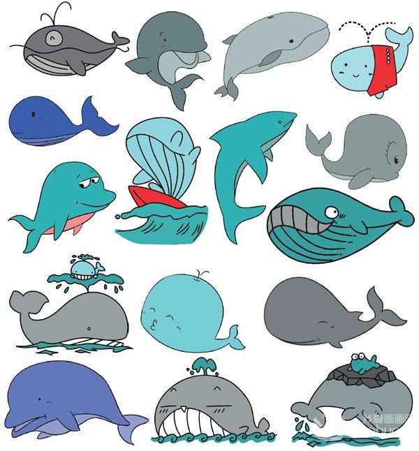 水生动物类简笔画(5)