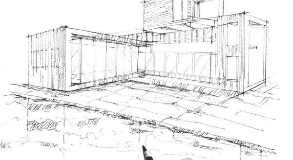 建筑手绘水纹画法