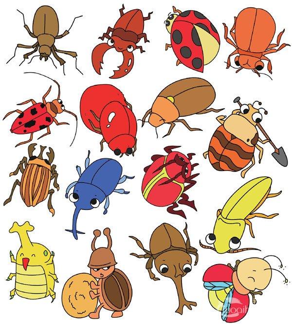 昆虫类简笔画(4)