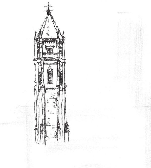 太原唐晋画室 速写哥特式古堡的绘画教程图片