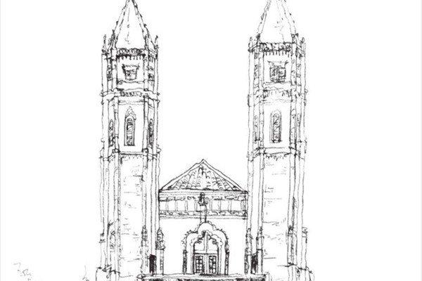 速写哥特式古堡的绘画教程