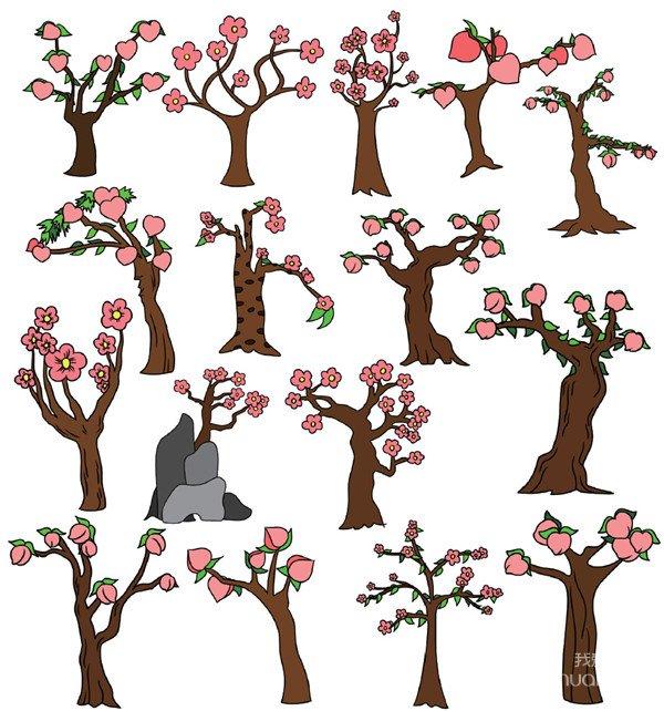 桃树简笔画