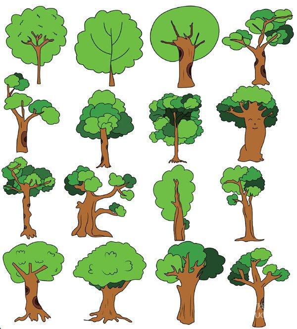 树木类简笔画(4)