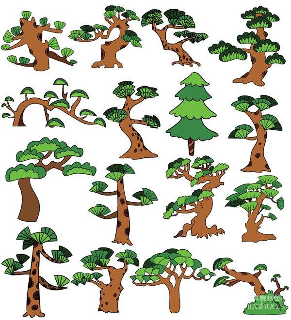 树木类简笔画(3)