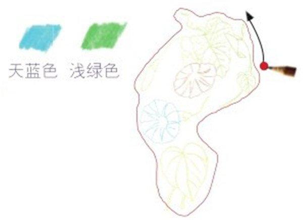 彩铅牵牛花的绘画步骤(2)