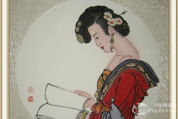 娄欣云古典仕女装饰画欣赏