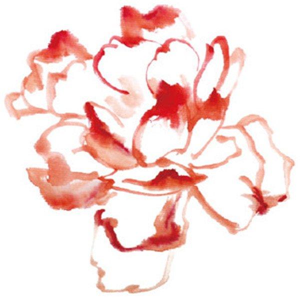 水墨月季花花瓣