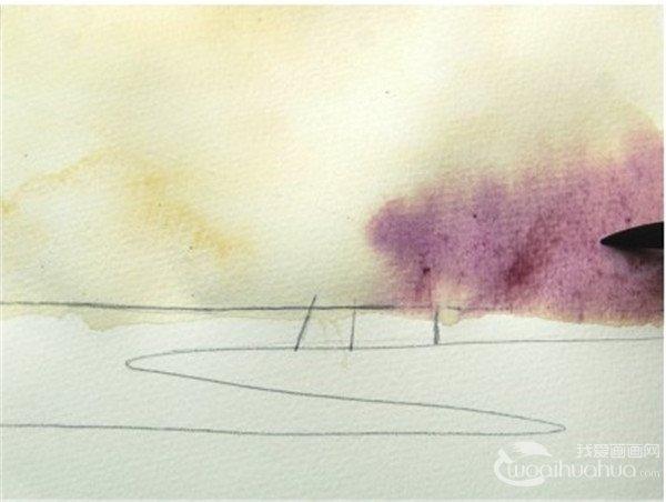 水彩画基本技法湿画法(4)