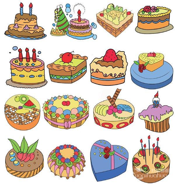 蛋糕簡筆畫