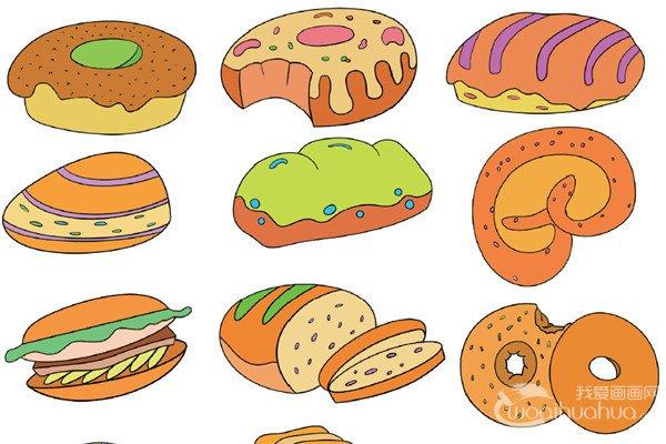 饮食类简笔画