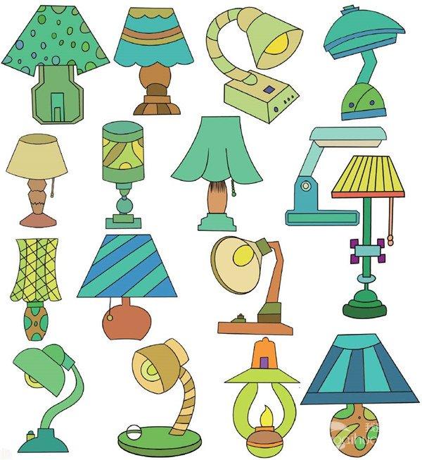儿童简笔画:灯-生活用品类简笔画