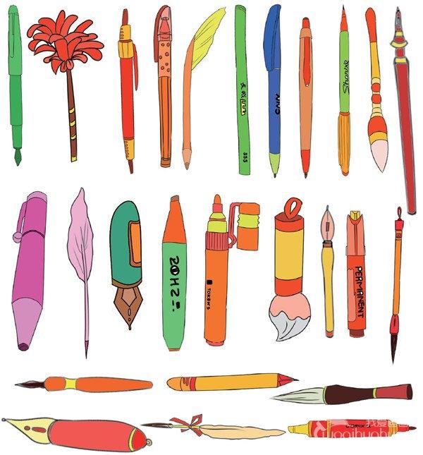 学习用品类简笔画_儿童画教程_学画画_我爱画画网