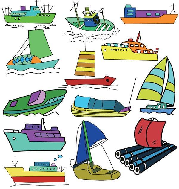 船的简笔画二-交通工具篇简笔画
