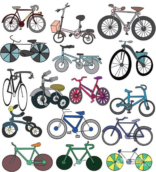 儿童简笔画自行车一