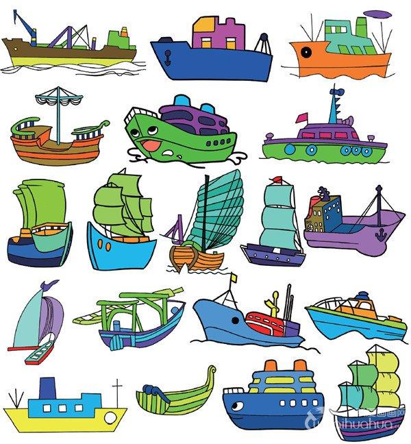 船的简笔画一-交通工具篇简笔画