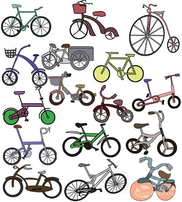 儿童简笔画自行车二