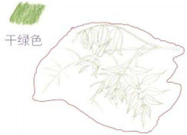 彩铅紫藤花的绘画步骤(2)_水彩画教程_学画画_我爱