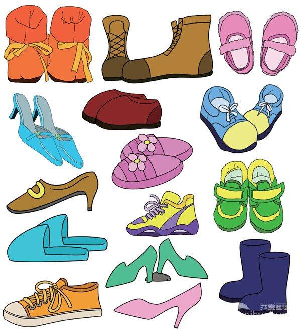 简笔画鞋子步骤