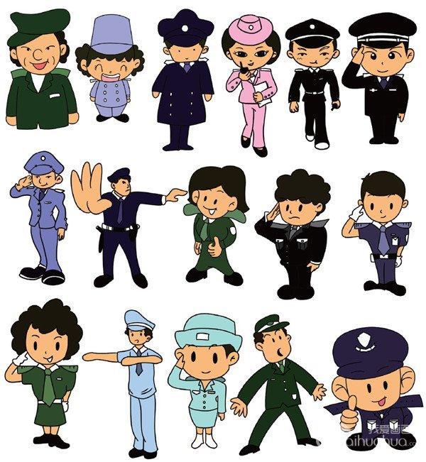 警察图片卡通简笔画