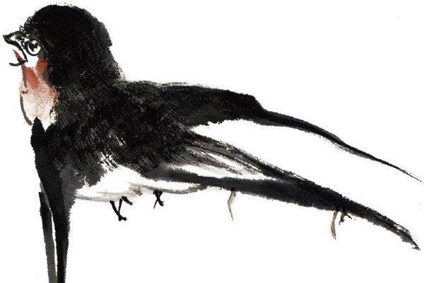 水墨燕子的绘画教程