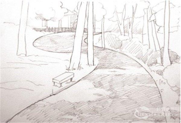 素描风景简单步骤