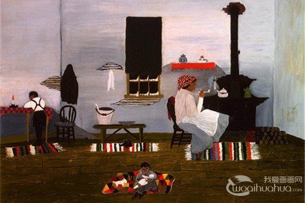 美式黑人装饰画家Horace Pippin作品赏析