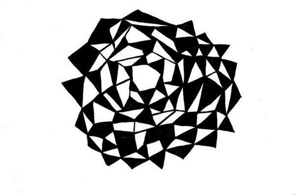 英国伦敦艺术家曼迪普罗斯黑白装饰画赏析