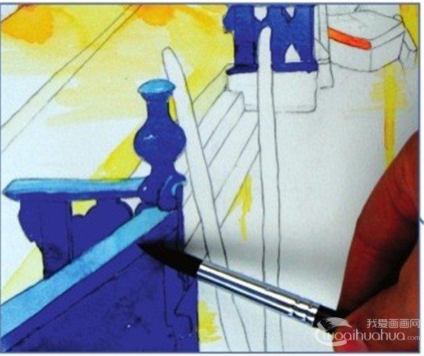 水彩威尼斯夜景绘画技法(3)