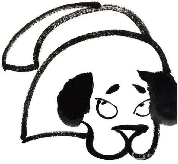 水墨十二生肖戌狗的绘画技法