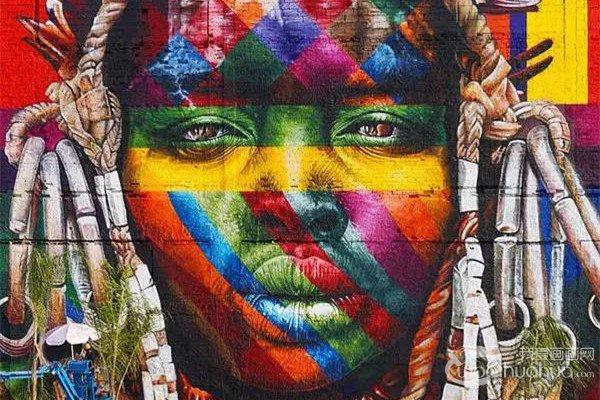 巴西涂鸦艺术家为奥运手绘史上最长壁画作品赏析