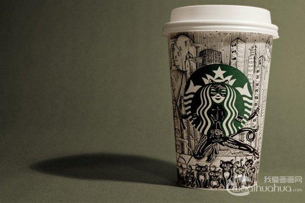 加拿大艺术家手绘的星巴克纸杯涂鸦作品图片赏析