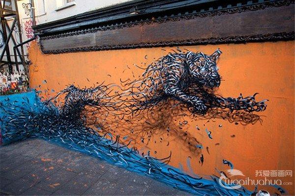 华裔艺术家DALeast令人惊叹的街头涂鸦艺术作品赏析