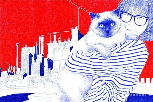 Carine Brancowitz圆珠笔插画欣赏