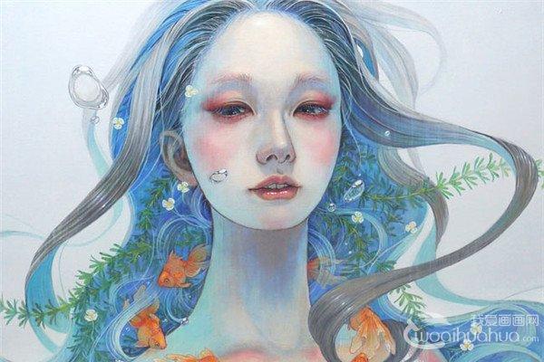 日本Miho Hirano唯美风格插画作品欣赏
