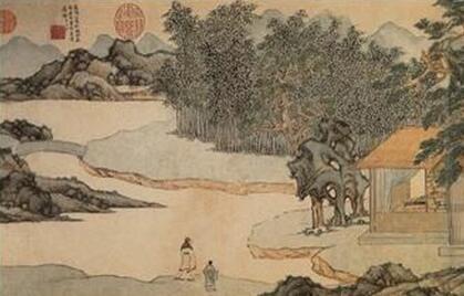 文征明国画《真赏斋图》作品欣赏