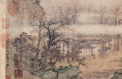 武元直《赤壁图》_据苏轼赤壁赋诗意而创作的山水画高清大图赏析